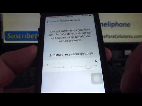 Como aumentar el tamaño de la letra en el iPhone 5S 5C 5 4 iOS 7 español Channeliphone