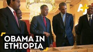 Obama's Historic Ethiopia Visit Stirs Controversy