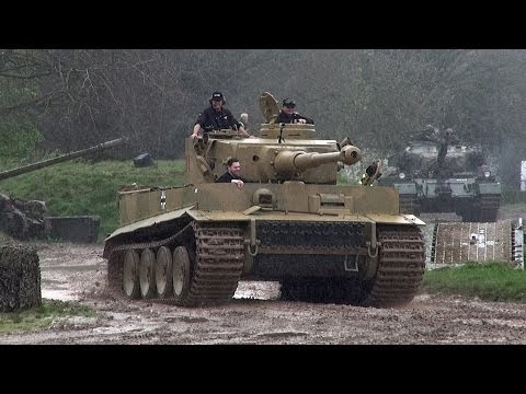 Tiger Tank 131 Sounding Great In The Mud and Rain.