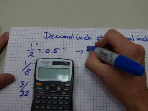 Decimal inches, fractional inches