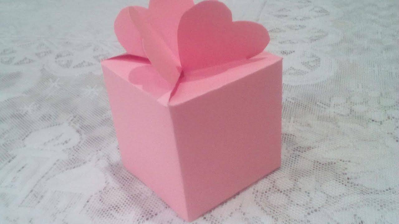 Коробочка из бумаги с сердечком своими руками 72