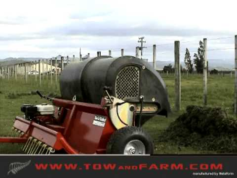 Tow and Collect - PASTURE CLEANER - Horse Manure Collector. Goose Poop Sweeper