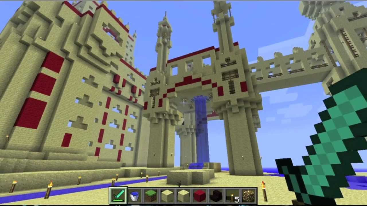GIANT Sand Castle! - Minecraft - YouTube