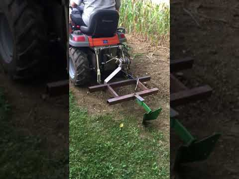 Home made garden tractor true 3 point hitch