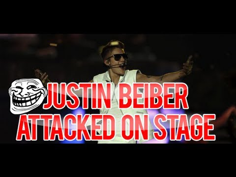 JUSTIN BEIBER ATTACKED ON STAGE