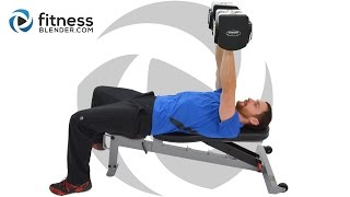 Upper Body Split Workout - Chest and Triceps Mass Building Workout