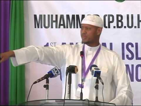 Sheikh Said Rageah lecture during annual islamic conference 2014 Nairobi.