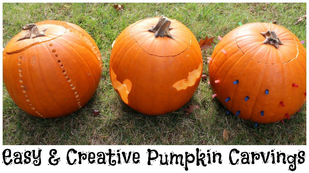 Easy creative pumpkin carvings youtube