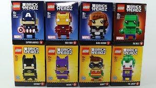 Lego Brick Headz Batman Joker Batgirl Iron Man Hulk Captain America