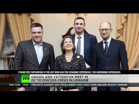 Obama meets Ukraine's Yatsenyuk in the White House