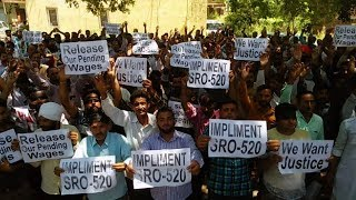 PHE daily wagers protest against order for discontinuation of services
