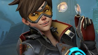 Tracer being played by someone who sounds like Tracer