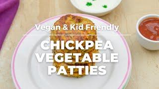 Chickpea Vegetable Patties | Healthy Vegetable Patties for Kids | How to make Vegan Patties