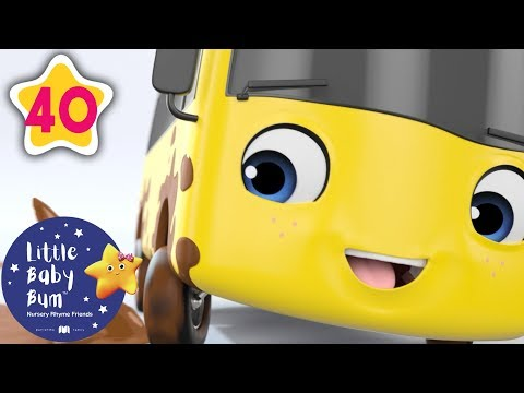 GO Buster Compilation | Stuck in The Mud | +More Nursery Rhymes and Kids Songs | Little Baby Bum