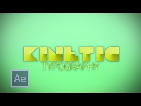 Kinetic Typography - After Effects Tutorial