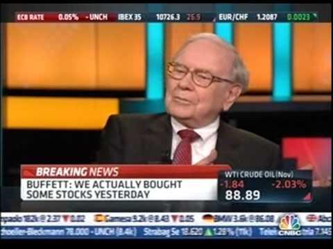 Warren buffet interview (CNBC squawk box )