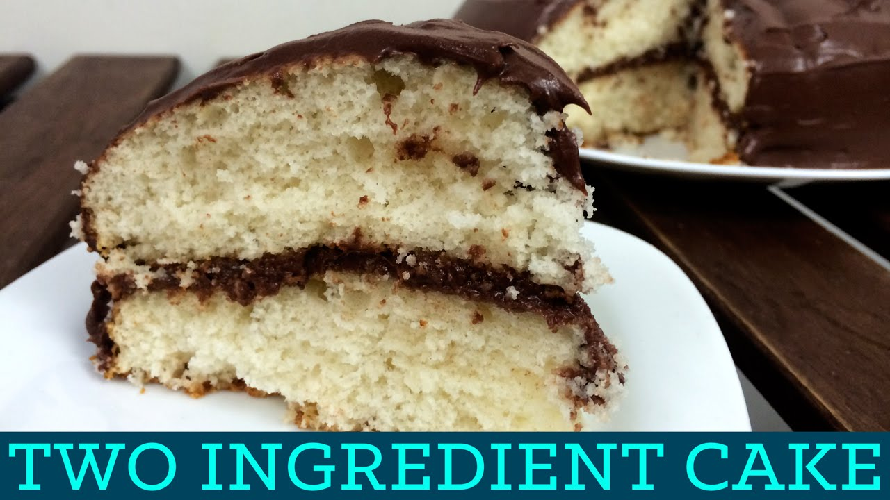How to make 2 ingredient cake two ingredient takeover for What are the ingredients to make a cake