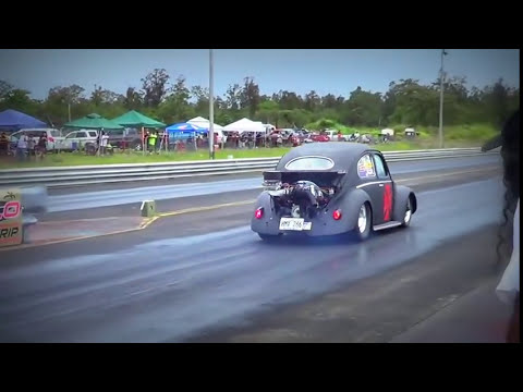 Hawaii Motorhead Magazine Hilo VW Bug-In 2013 Quick 8 1st Round Elimination
