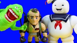 Huge Ghostbusters Collection With Metals Diecast Stay Puft Slimer Ghost Busting Toys