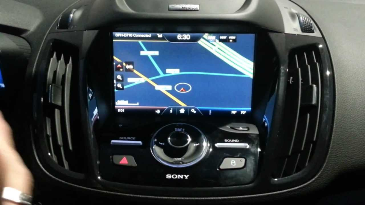 Ford C Max >> Ford SYNC Voice Activated Navigation - YouTube