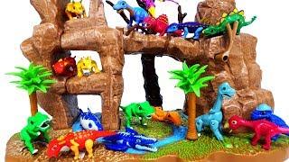 공룡메카드 타이니소어 티라노 스테고 브라키오사우루스 트리케라톱스 쥬라기월드 점박이2 공룡대탈출 장난감 놀이