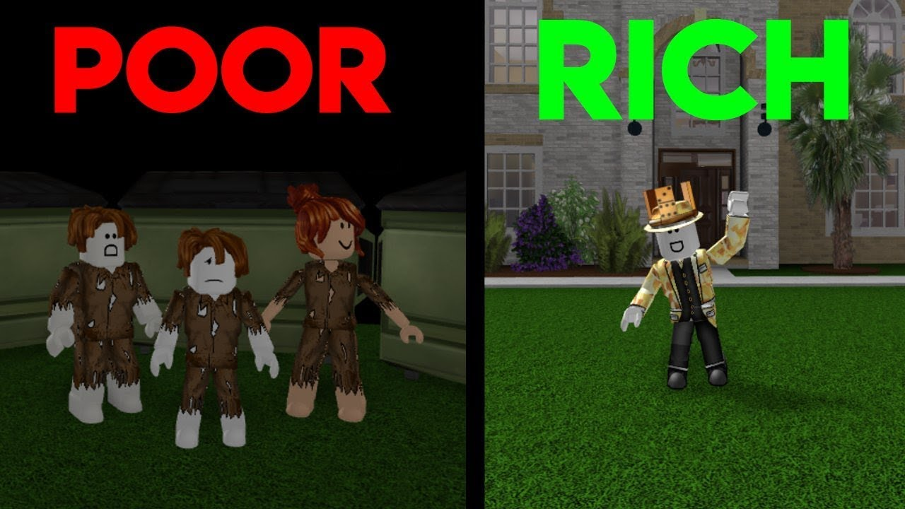 Poor To Rich | Roblox A Sad Bloxburg Movie
