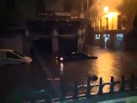 Image video أمطار غزيرة في تونس