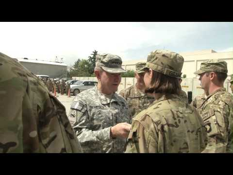 General Dempsey Visits Bagram Airfield, Afghanistan