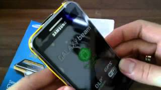 SAMSUNG GALAXY BEAM GT i8530 Unboxing German HD 16 9
