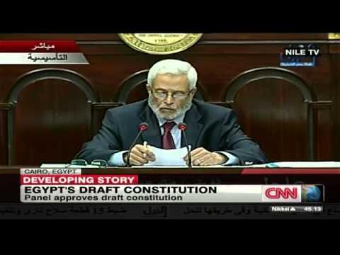 Egyptian Draft Constitution Passes