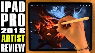 2018 iPad Pro artist test review drawing along with Apple Pencil 2