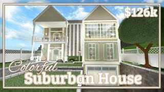 Bloxburg - Colorful Suburban House Speed-build