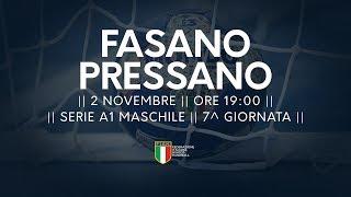 Serie A1M [7^]: Fasano - Pressano 30-35