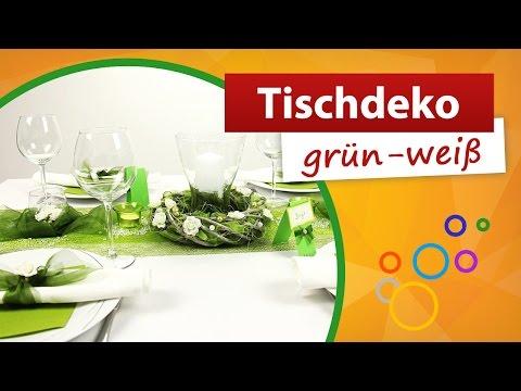 ♥ Tischdeko Grün Weiß ♥ Tischdekorationen - Trendmarkt24