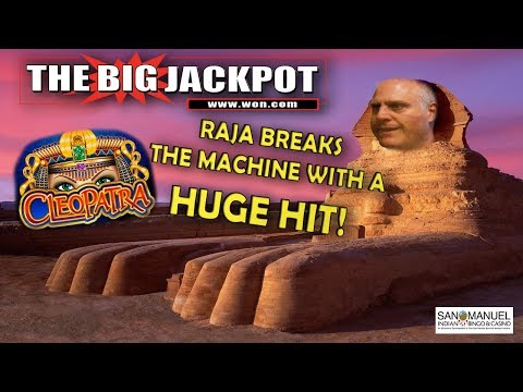 RAJA BREAKS THE MACHINE!! 😱 SO MANY FREE GAMES ON CLEOPATRA!