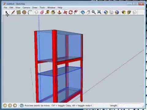 Mueble para discus con google sketchup tutorial youtube for Mobilia para sketchup 8