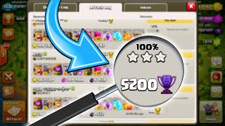 Clash of Clans - 5200 TROPHIES 3 STAR! Epic Legends League 3 Star Attack!
