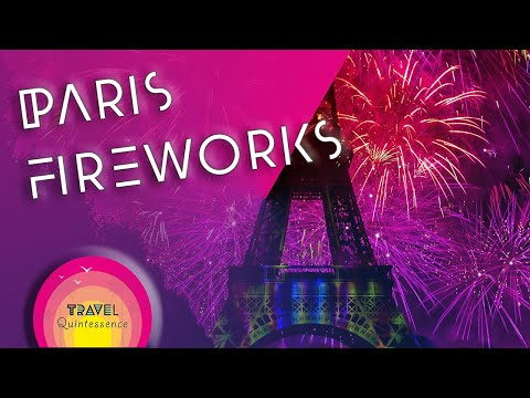 Eiffel Tower Fireworks in Paris Bastille Day Celebrations