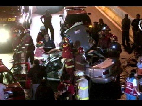 Accidente en Vía Evitamiento: Dos personas fallecieron tras el choque frontal de dos vehículos