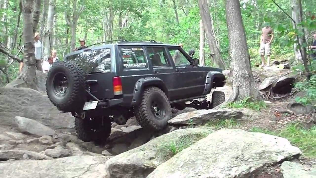 My Jeep Cherokee Off Road in MA on 8-21-10 - YouTube