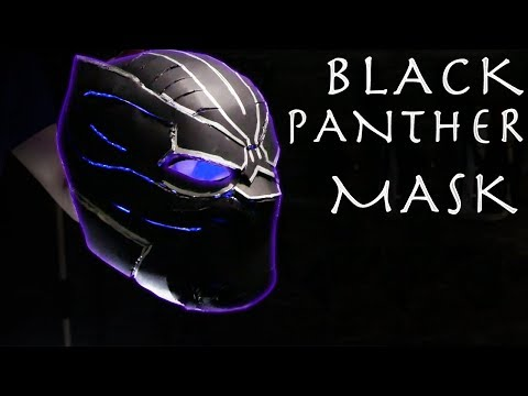 How To Make a Glowing LED Black Panther Mask! - $10 Build!!!