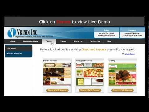 Demo of Online Ordering System for Restaurants by Vrindi