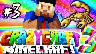 Minecraft Mods: CRAZY CRAFT #3 'SCORPION LAIR!' with Vikkstar (Crazy Craft 3.0 SMP)