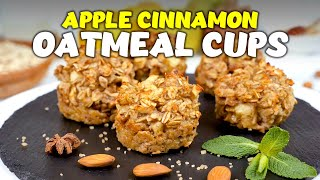 Apple Cinnamon Oatmeal Cups - Cook It Recipes