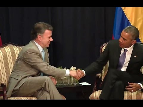 President Obama Meets with President Juan Manuel Santos