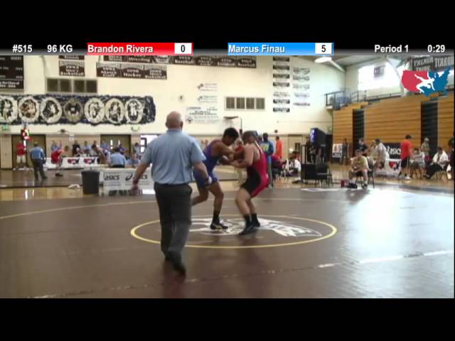 FILAJR WTT: 96 KG Brandon Rivera (Team Overtime) vs. Marcus Finau (NYAC)