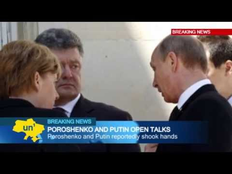 Putin Meets Poroshenko: Ukraine's new leader meets Russian counterpart during D-Day events