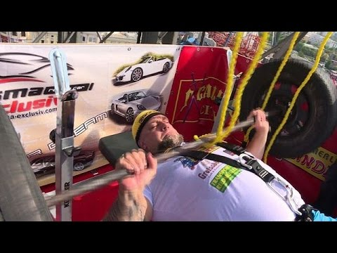 'Austrian Rock' takes 10-hour training challenge on big wheel