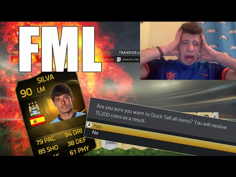 OMFG DISCARDING 90 TIF DAVID SILVA!? - FIFA 15 PACK OPENING & Ultimate Team
