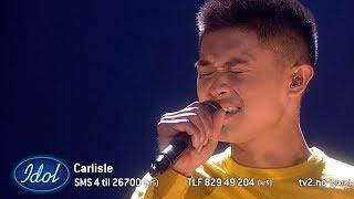 Dommerne var målløse og tårevåte etter Carlisles sang om savnet etter en far | Idol Norge 2018
